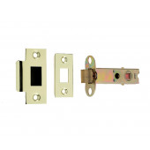 JL6666 Satin Stainless Steel/Brass Forends Heavy Double Sprung Mortice Latch - Fire Rated 80mm