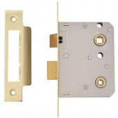 "Keysafe Contract Bathroom Lock 3""  76mm Brass"