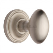 CHE7373-SN Heritage Brass Chelsea Oval Sprung Concealed Mortice Knob