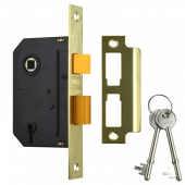 """UNION Y-ES-SL-PB-2.5 Essential 3 Lever Sashlock 21/2"""" Brass"""