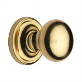 HAM8361-PB Heritage Brass Hampstead Sprung Concealed Mortice Knob