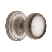 HAM8361-SN Heritage Brass Hampstead Sprung Concealed Mortice Knob