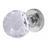 JH5255 Faceted Glass Sprung Mortice Knob Furniture Jedo