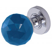 JH5258 Blue Coloured Faceted Sprung Mortice Knob Furniture