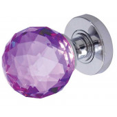 JH5260 Purple Coloured Faceted Sprung Mortice Knob Furniture