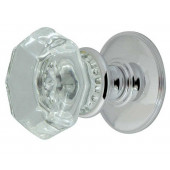 JH7020 Flower-Octagonal Unsprung Glass Mortice Knob