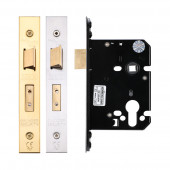 Architectural Euro Profile Cylinder Mortice Sash Lock 76mm  Fire Rated-ZUKS76EP-Polished Brass